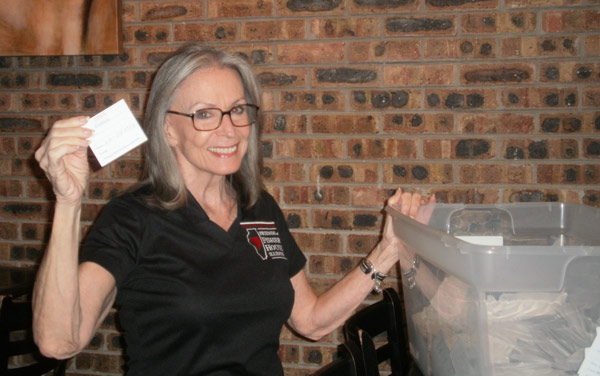 FOFH-IL Raffle Chair and Board Development Officer Barb Kemp