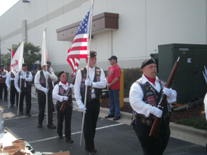 The 2013 Warrior Ride of Illinois Honor Guard Marches to Start Opening Ceremonies