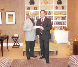 Secret Service Special Agent Peter Schurla Presents Donation for $11,000 to FOFH-IL