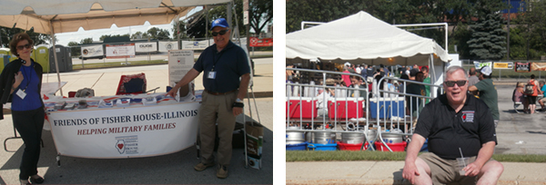 FOFH-IL representatives, Diane Kallos and Steve Stamatis, at the Two Brothers Summer Festival manned the booth while Board Vice president of Communications Mark Garry takes a cooling break at this fantastic event helping support the FOFH-IL mission