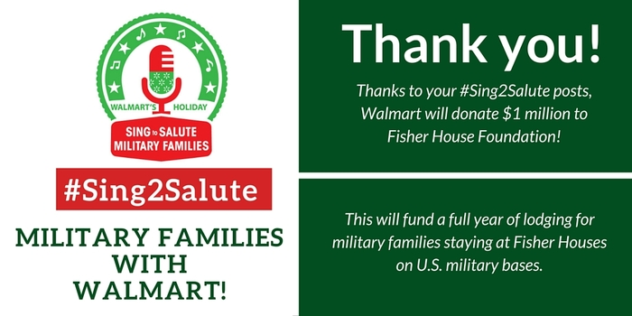 The #Sing2Salute campaign was a HUGE success!